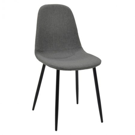 Scaun Bella Fabric Grey Black Legs
