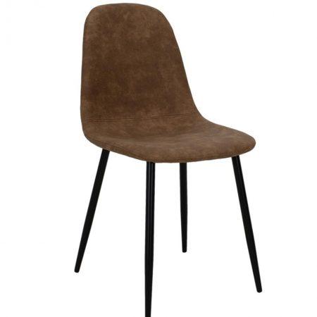 Scaun Bella Leather Brown Black Legs