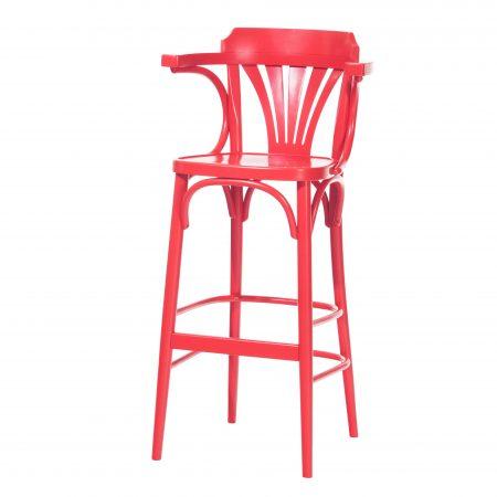 Scaun de bar din lemn de fag 135 Red