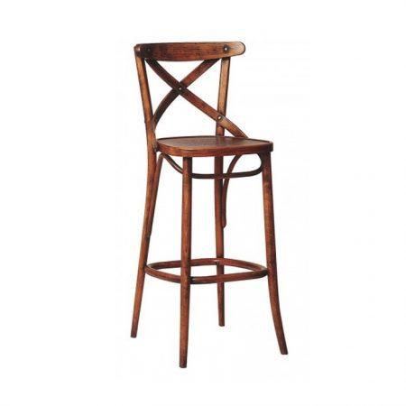 Scaun de bar din lemn de fag 149 Antique Brown