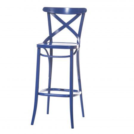 Scaun de bar din lemn de fag 149 Blue