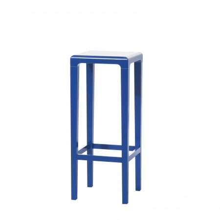Scaun de bar din lemn de stejar Rioja Blue High