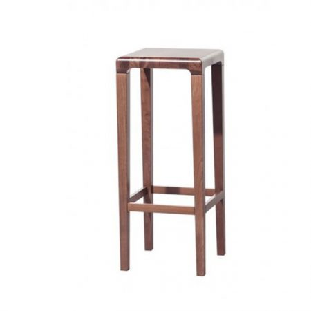 Scaun de bar din lemn de stejar Rioja Brown High