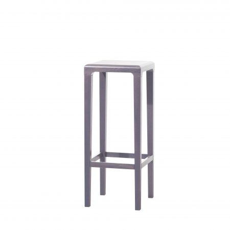Scaun de bar din lemn de stejar Rioja Grey High