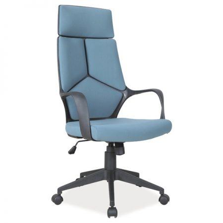 Scaun de birou ergonomic tapitat cu stofa Riley Albastru / Negru