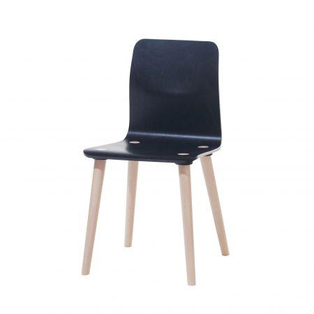 Scaun din lemn de fag Malmo Natural / Black