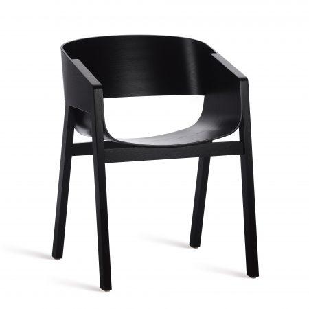 Scaun din lemn de stejar Merano Black