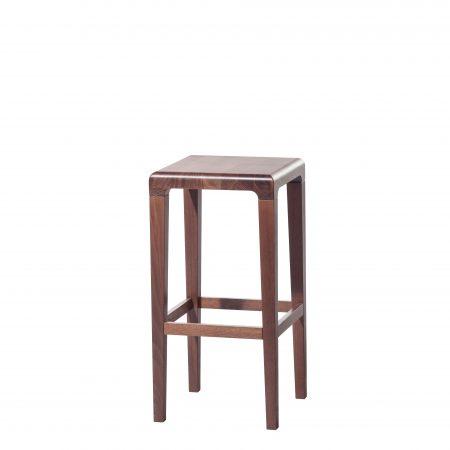 Scaun din lemn de stejar Rioja Brown Small