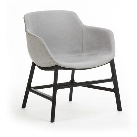Scaun din plastic tapitat cu stofa