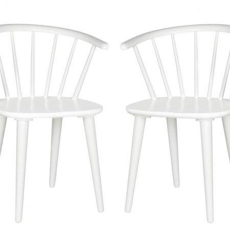 Set 2 scaune Gaia White