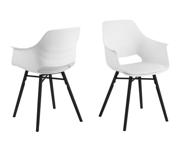 Set 2 scaune Ramona White
