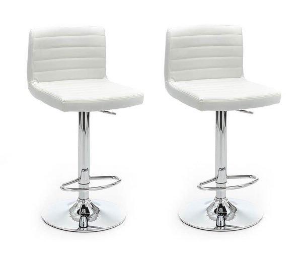 Set 2 scaune de bar Hydra White