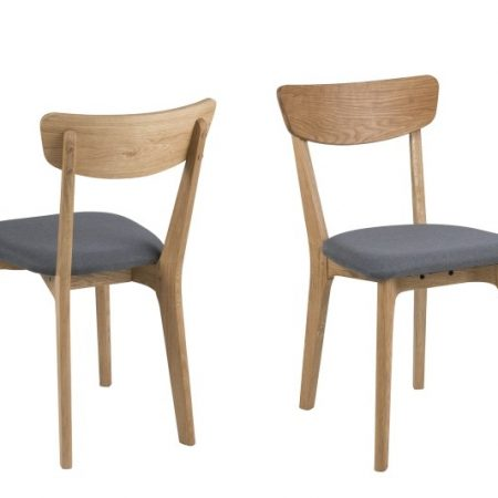 Set 2 scaune tapitate cu stofa