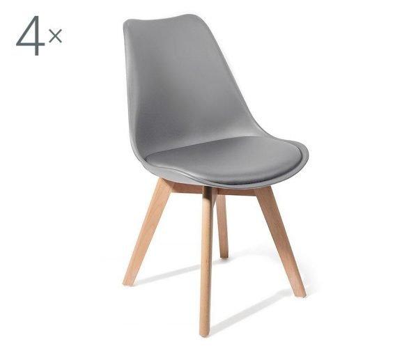 Set 4 scaune Kiki Evo Wood Gray