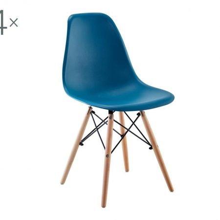 Set 4 scaune Lunaria Turquoise