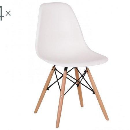 Set 4 scaune Lunaria White