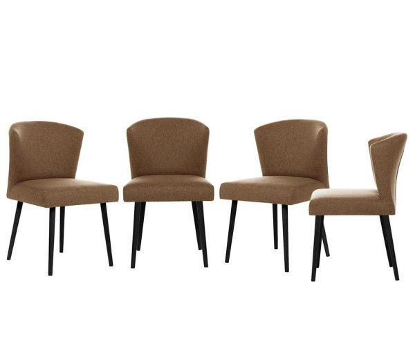 Set 4 scaune My Pop Design Richter Black Light Brown