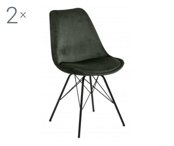 Set de 2 scaune dining Eris Green