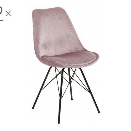 Set de 2 scaune dining Eris Pink