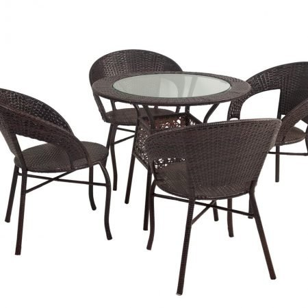 Set masuta si 4 scaune pentru exterior Sunny